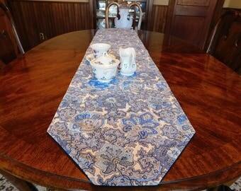 Blue Paisley table runner