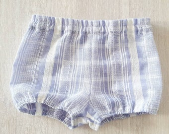 Blue and white 100% Cotton bloomers