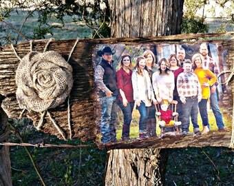 Custom Photos on Barn Wood