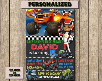 Blaze and the Monster Machines,Blaze and the Monster Machines Invitation,Blaze and the Monster Machines Birthday,Printable,Digital File