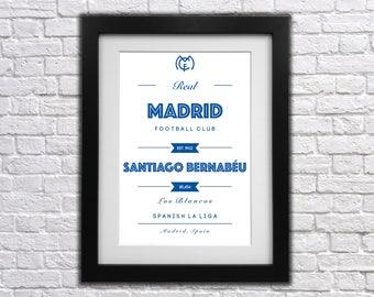 Real Madrid FC Club Print