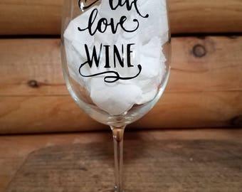 Wine Glass, Wine, Gift, Wedding, Live, love, wine: Customized Wine Glass