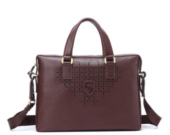 Luxury leather Shoulder Bag / Laptop Bag