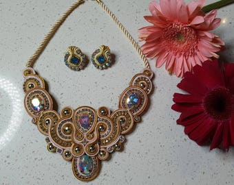 Necklace in Soutache