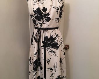 Coldwater creek printed belted dress SZ 16