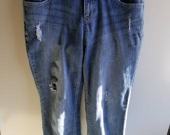 VERA WANG•CAPRI jeans Straight Leg  Women's 10 Stretch