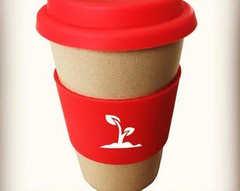 Reusable eco coffee cup