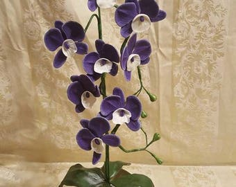 Orchid in cold porcelain