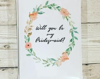 Bridesmaid Cards - variety