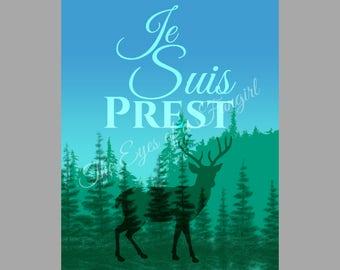Outlander Original Artwork Print Je Suis Prest Jamie Fraser Clan