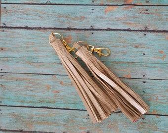 Camel- Genuine Leather Tassel
