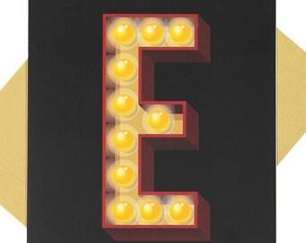 Letter 'E' - Blank Card