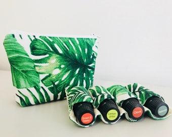 2 Piece Green Palm Essential Oil Bag | Oil Pouch