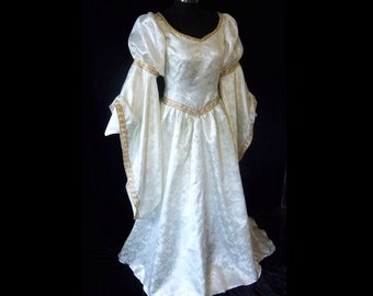Renaissance wedding dress etsy made to order renaissance faire wedding bridal gown accolade dress your size junglespirit Image collections