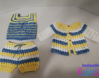 Crochet Baby Set Of 3 (New)
