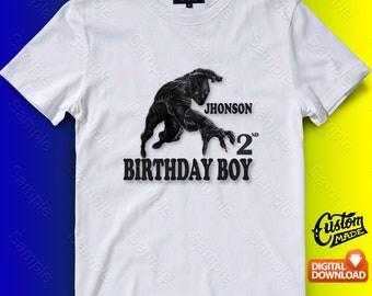 Black Panther Iron On Transfer, Black Panther Birthday Shirt DIY, Black Panther Shirt Designs, Personalize, Digital Files