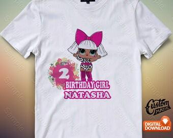 Lol Dolls Iron On Transfer, Lol Dolls Birthday Shirt DIY, Lol Dolls Shirt Designs, Lol Dolls Printable, Personalize, Digital Files