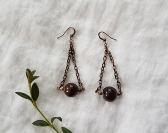earrings - ceramic beads