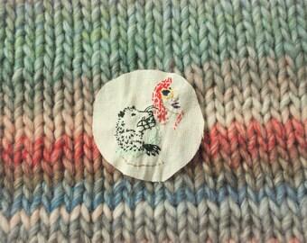 Possum hold cross stitch design