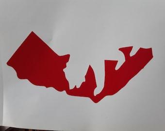 One california bear vinyl sticker