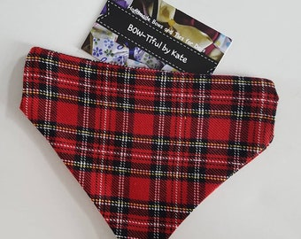 Dog Bandana - Tartan Design gift for dogs, accessories, dogs, neck tie, gift, grooming, present