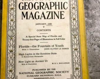 January 1930 National Geographic Magazine