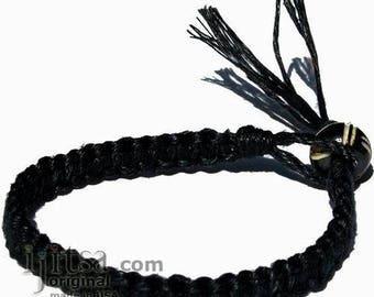 Black Hemp Surfer Bracelet or Anklet