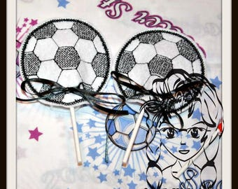SoCCER School Sports Sucker Cover Lollipop Candy ~ In the Hoop ~ Downloadable DiGiTaL Machine Embroidery Design by Carrie