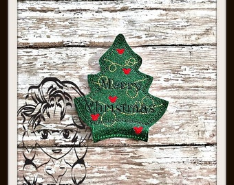 CHRISTMaS TREE Center (Add On ~ 1 Pc) Mr Miss Mouse Ears Headband ~ In the Hoop ~ Downloadable DiGiTaL Machine Embroidery Design by Carrie