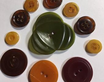 Vintage Bakelite Button Lot