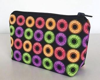 FINAL MARKDOWN small makeup bag, candy, hard candy, lifesavers, cosmetic bag, zipper bag, deesdeezigns1