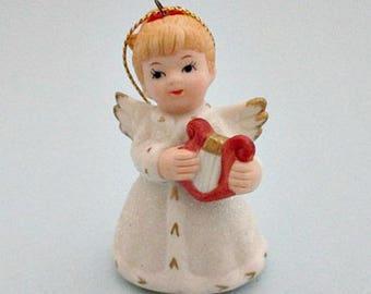 Porcelain Angel Ornament - Angel Vintage Christmas Ornament - HOMCO 5414 Ornament - Angel Gift