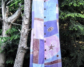 Vintage Tent Dress/80s Boho Dress/ 90s Gypsy Dress/ Festival Dress/ One Size