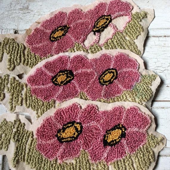 Vintage Embroideryfrench Knotspink Flowerscandlewicking