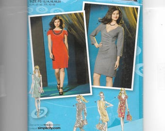 Simplicity Misses'  Dress With Front and Sleeve Variations Pattern 2337