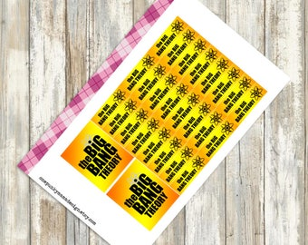 Big Bang Theory Stickers for Erin Condren (ID301)