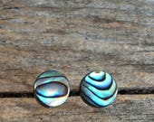 SUMMER SALE Abalone Shell StudEarrings - Mermaid Jewelry