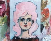 Oil painting portrait - Lili - Original art