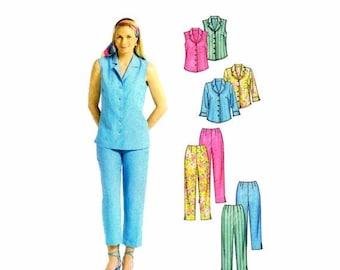 SALE Misses Shirts Capri Pants McCalls 4810 Sewing Pattern Size 8 - 10 - 12 - 14 Bust 31 1/2 - 32 1/2 - 34 - 36 Uncut