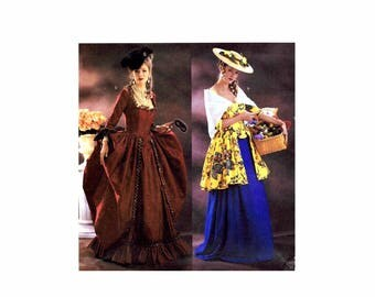 Butterick 3640 Marie Antoinette My Fair Lady Historical Costume Sewing Pattern Size 12 - 14 - 16 Bust 34 - 36 - 38 UNCUT