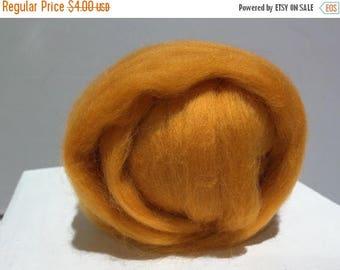 ROVING SALE Butterscotch Merino Roving, Needle Felting Spinning Fiber, Merino wool, felting wool, light orange wool, orange roving, pumpkin,