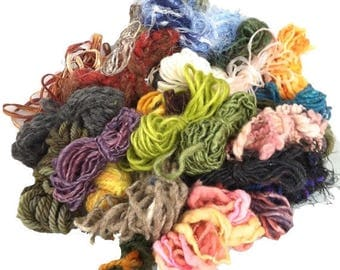 KIT SALE Yarn grab bag, freeform or surface embellishments, mini skeins, varying weights