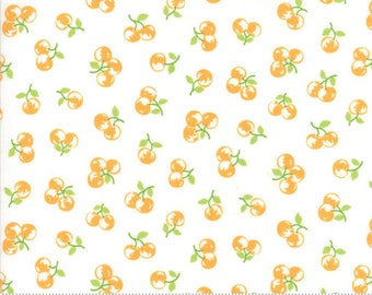 The Good Life - Orchard in Cream and Marmalade Orange: sku 55158-19 cotton quilting fabric by Bonnie and Camille for Moda Fabrics