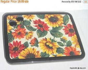 Valentine Sale Yellow Orange Sunflowers Magnetic Board, Magnetic Bulletin Board, Magnet Pin Board, Autumn Fall Decor, Kitchen Decor, Housewa