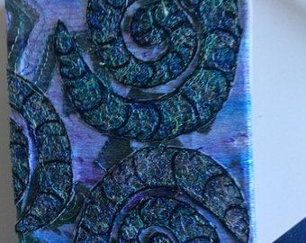 Handmade embroidered hardback sketchbook