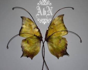 Fairy Wings - Yellow Butterfly wings YE2 -  For OOAK Art Dolls