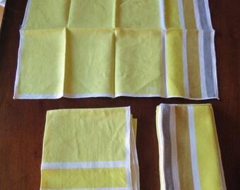 Set of 8 Vintage Vera Neumann Linen Cloth Napkins
