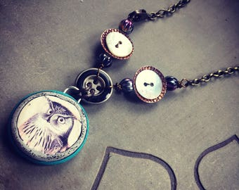 Dare to be Remarkable Owl Necklace