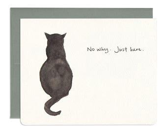 Blackie Just Here Card