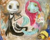Meant to be - mixed media art print by Mindy Lacefield